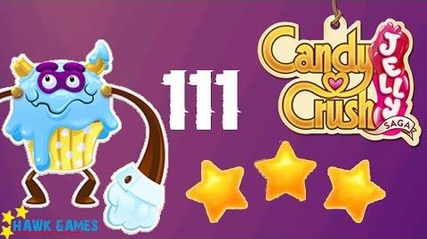 Candy Crush Jelly - 3 Stars Walkthrough Level 111 (Puffler Boss mode)