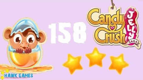 Candy Crush Jelly - 3 Stars Walkthrough Level 158 (Monkling mode)
