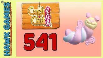 Candy Crush Jelly Saga Level 541 Hard (Puffler mode) - 3 Stars Walkthrough, No Boosters