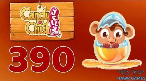 Candy Crush Jelly 🍰 Saga Level 390 Hard (Monkling mode) - 3 Stars Walkthrough, No Boosters