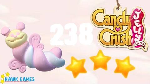 Candy Crush Jelly - 3 Stars Walkthrough Level 238 (Puffler mode)