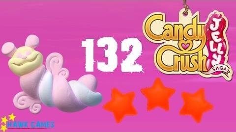 Candy Crush Jelly - 3 Stars Walkthrough Level 132 (Puffler mode)