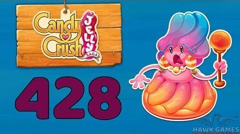 Candy Crush Jelly 🍰 Saga Level 428 (Jelly Boss mode) - 3 Stars Walkthrough, No Boosters