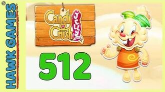 Candy Crush Jelly Saga Level 512 (Jelly mode) - 3 Stars Walkthrough, No Boosters