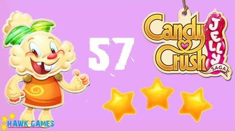 Candy Crush Jelly - 3 Stars Walkthrough Level 57 (Jelly mode)