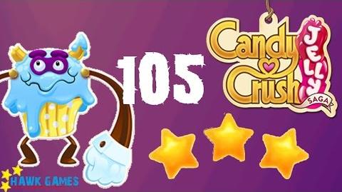 Candy Crush Jelly - 3 Stars Walkthrough Level 105 (Puffler Boss mode)-0