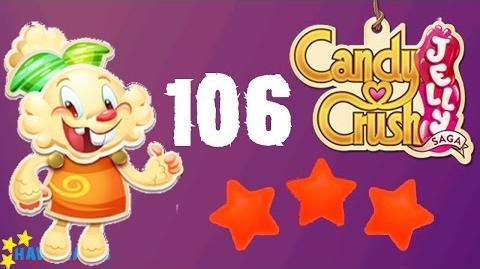 Candy Crush Jelly - 3 Stars Walkthrough Level 106 (Jelly mode)