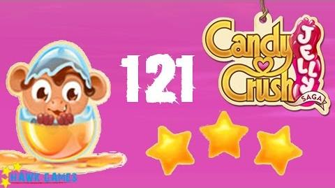 Candy Crush Jelly - 3 Stars Walkthrough Level 121 (Monkling mode)