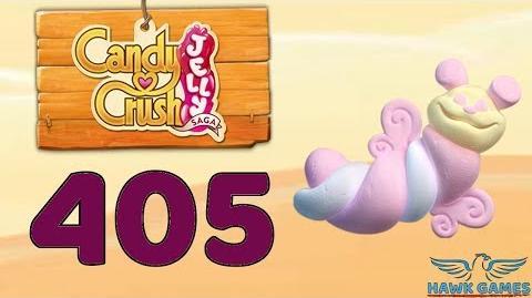 Candy Crush Jelly 🍰 Saga Level 405 Hard (Puffler mode) - 3 Stars Walkthrough, No Boosters