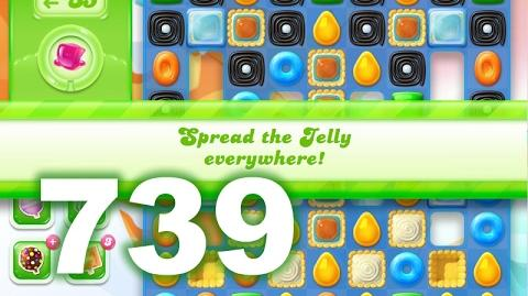 Candy Crush Jelly Saga Level 739 (3 star, No boosters)