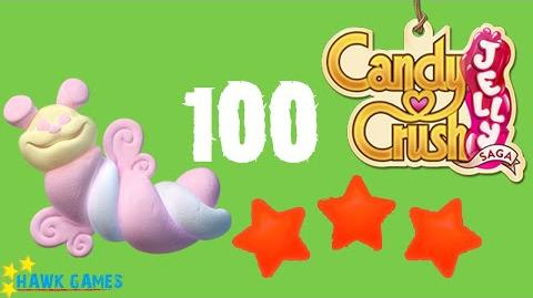 Candy Crush Jelly - 3 Stars Walkthrough Level 100 (Puffler mode)