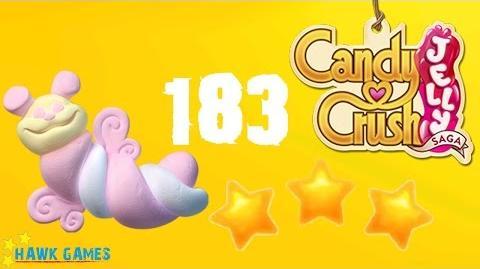 Candy Crush Jelly - 3 Stars Walkthrough Level 183 (Puffler mode)