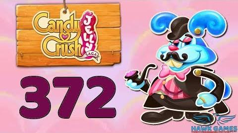 Candy Crush Jelly Saga Level 372 (Monkling Boss mode) - 3 Stars Walkthrough, No Boosters