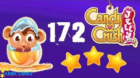 Candy Crush Jelly - 3 Stars Walkthrough Level 172 (Monkling mode)