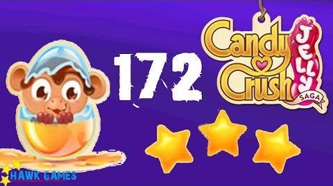 Candy Crush Jelly - 3 Stars Walkthrough Level 172 (Monkling mode)