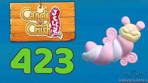 Candy Crush Jelly 🍰 Saga Level 423 (Puffler mode) - 3 Stars Walkthrough, No Boosters