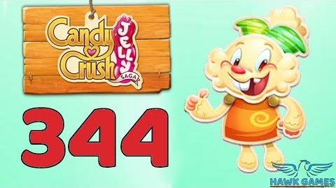 Candy Crush Jelly Saga Level 344 Hard (Jelly mode) - 3 Stars Walkthrough, No Boosters