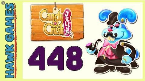 Candy Crush Jelly Saga Level 448 (Monkling Boss mode) - 3 Stars Walkthrough, No Boosters