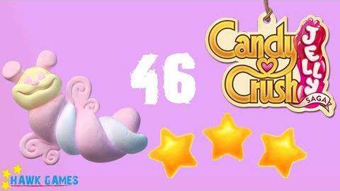 Candy Crush Jelly - 3 Stars Walkthrough Level 46 (Puffler mode)
