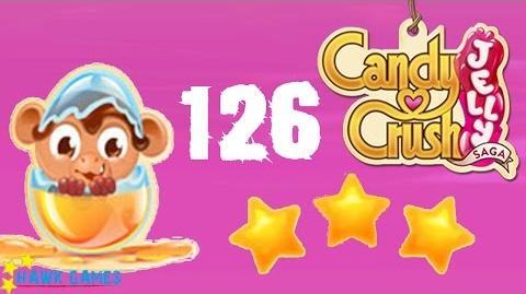 Candy Crush Jelly - 3 Stars Walkthrough Level 126 (Monkling mode)