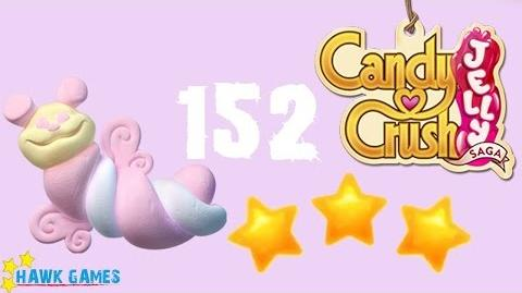 Candy Crush Jelly - 3 Stars Walkthrough Level 152 (Puffler mode)