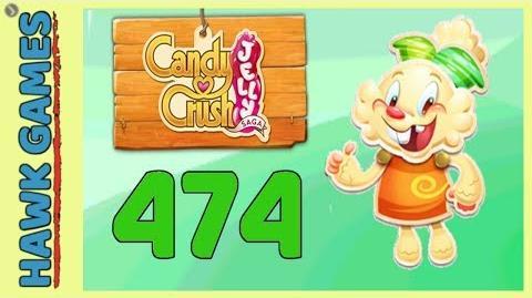 Candy Crush Jelly Saga Level 474 (Jelly mode) - 3 Stars Walkthrough, No Boosters