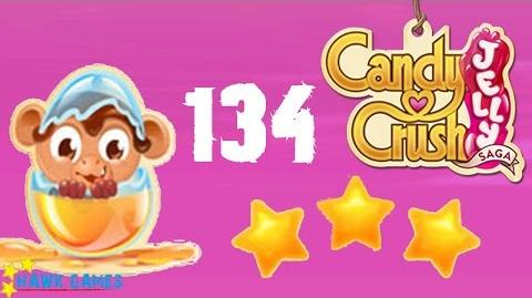 Candy Crush Jelly - 3 Stars Walkthrough Level 134 (Monkling mode)