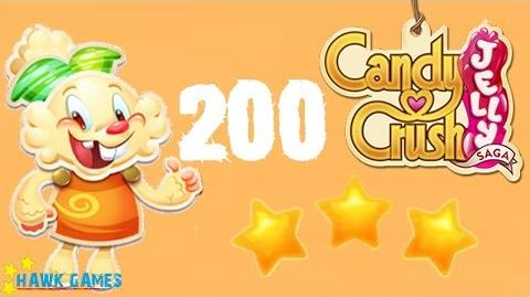 Candy Crush Jelly - 3 Stars Walkthrough Level 200 (Jelly mode)