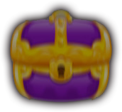 Treasure chest portal active purple