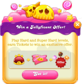 Win a Jellyficent Offer message