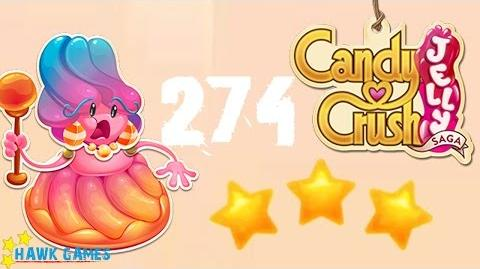 Candy Crush Jelly - 3 Stars Walkthrough Level 274 (Jelly Boss mode)