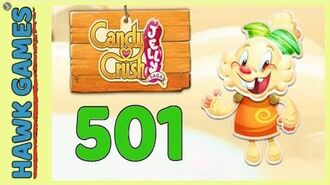 Candy Crush Jelly Saga Level 501 (Jelly mode) - 3 Stars Walkthrough, No Boosters
