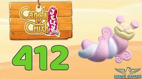 Candy Crush Jelly 🍰 Saga Level 412 (Puffler mode) - 3 Stars Walkthrough, No Boosters