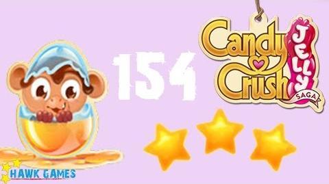 Candy Crush Jelly - 3 Stars Walkthrough Level 154 (Monkling mode)