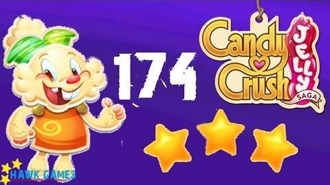Candy Crush Jelly - 3 Stars Walkthrough Level 174 (Jelly mode)