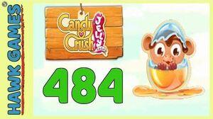 Candy Crush Jelly Saga Level 484 (Monkling mode) - 3 Stars Walkthrough, No Boosters