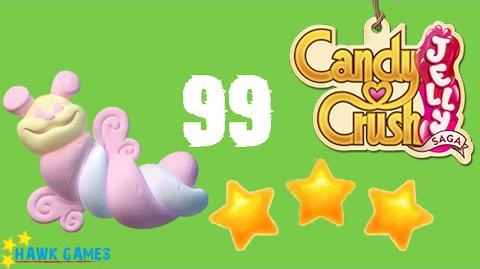 Candy Crush Jelly - 3 Stars Walkthrough Level 99 (Puffler mode)