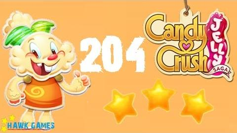 Candy Crush Jelly - 3 Stars Walkthrough Level 204 (Jelly mode)