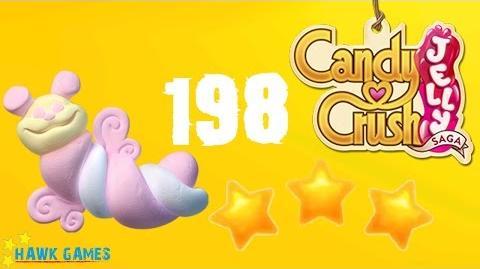 Candy Crush Jelly - 3 Stars Walkthrough Level 198 (Puffler mode)