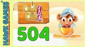 Candy Crush Jelly Saga Level 504 (Monkling mode) - 3 Stars Walkthrough, No Boosters