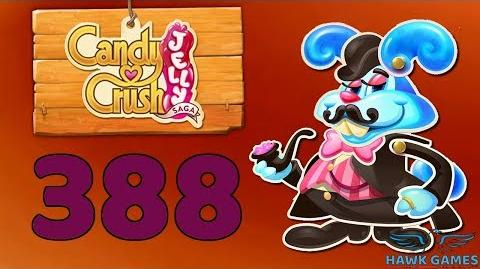 Candy Crush Jelly Saga Level 388 (Monkling Boss mode) - 3 Stars Walkthrough, No Boosters
