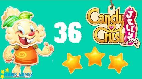 Candy Crush Jelly - 3 Stars Walkthrough Level 36 (Jelly mode)