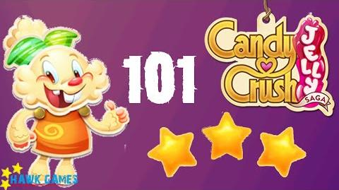 Candy Crush Jelly - 3 Stars Walkthrough Level 101 (Jelly mode)
