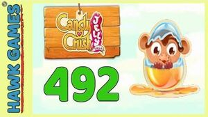 Candy Crush Jelly Saga Level 492 (Monkling mode) - 3 Stars Walkthrough, No Boosters