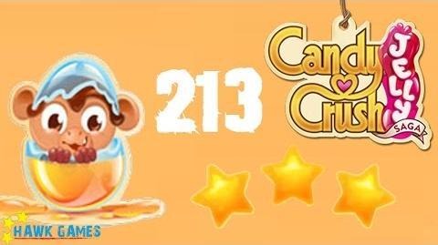 Candy Crush Jelly - 3 Stars Walkthrough Level 213 (Monkling mode)