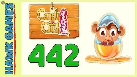 Candy Crush Jelly Saga Level 442 (Monkling mode) - 3 Stars Walkthrough, No Boosters