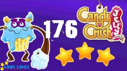 Candy Crush Jelly - 3 Stars Walkthrough Level 176 (Puffler Boss mode)
