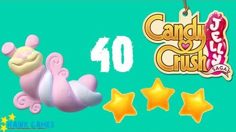 Candy Crush Jelly - 3 Stars Walkthrough Level 40 (Puffler mode)