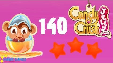 Candy Crush Jelly - 3 Stars Walkthrough Level 140 (Monkling mode)