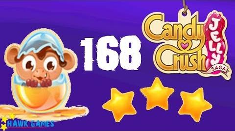 Candy Crush Jelly - 3 Stars Walkthrough Level 168 (Monkling mode)
